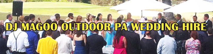 DJ MAGOO OUTDOOR wedding hire Header