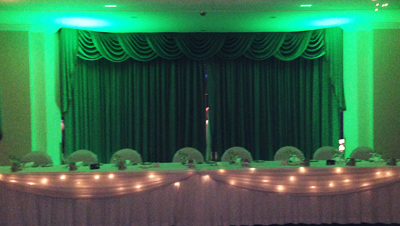 Bridal Table Lights Gosford lime green 3719