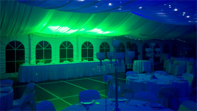 Wedding Lights Dural Blue Green Wedding Room Lighting IMG 1771yesE400