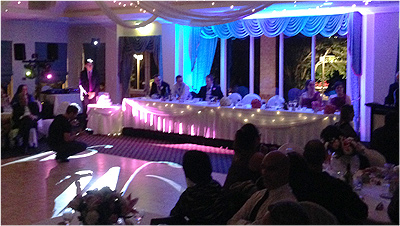 Wedding Lights Gosford Blue Room Lighting gobo 1