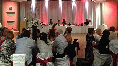 Wedding Lights Mittagong Red Bridal Table Wedding room lighting 6622