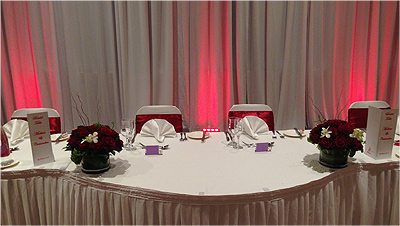 Wedding Lights Mittagong Red Bridal table Wedding room lighting 6555