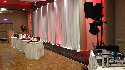 Wedding Lights Parramatta Red Bridal Table Wedding room lighting 6521