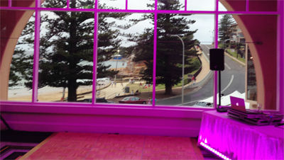 Wedding Lights Pink Terrigal Central Coast Wedding Room Lighting 1877E400